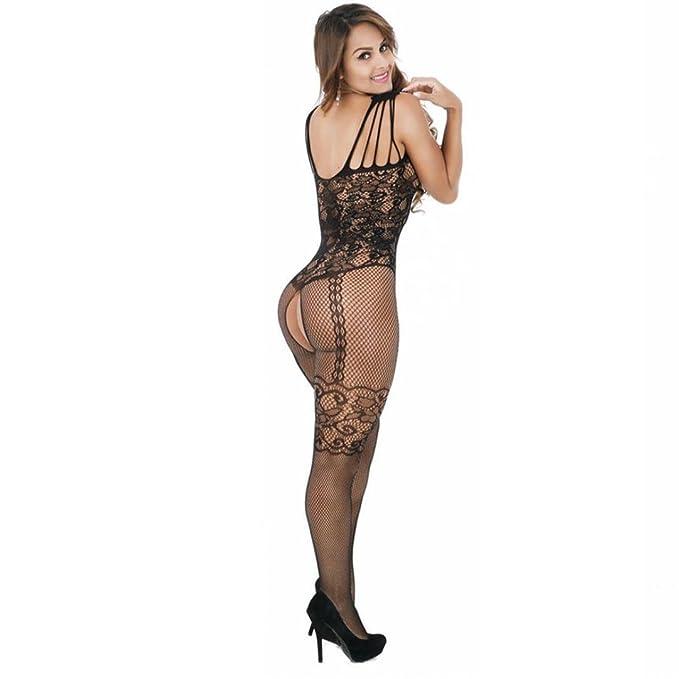 Hatoys Sexy Lingerie, Women Lace Dress Bodysuit Lingerie Nightwear Underwear Babydoll Sleepwear (Black) at Amazon Womens Clothing store: