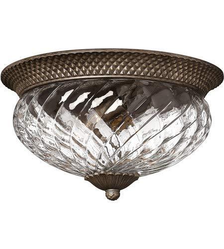 Flush Mounts 3 Light Fixtures with Pearl Bronze Finish Cast Aluminum Material Medium 16