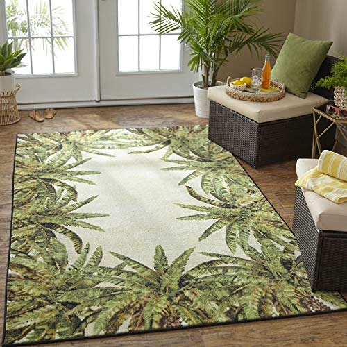 (Mohawk Z0322 A414 096120 EC Verde Palm Area Rug, 8'x10', Green)