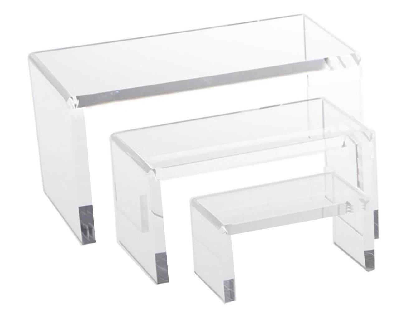 Heavy Duty Thick 1 set of 3 Piece Acrylic Risers