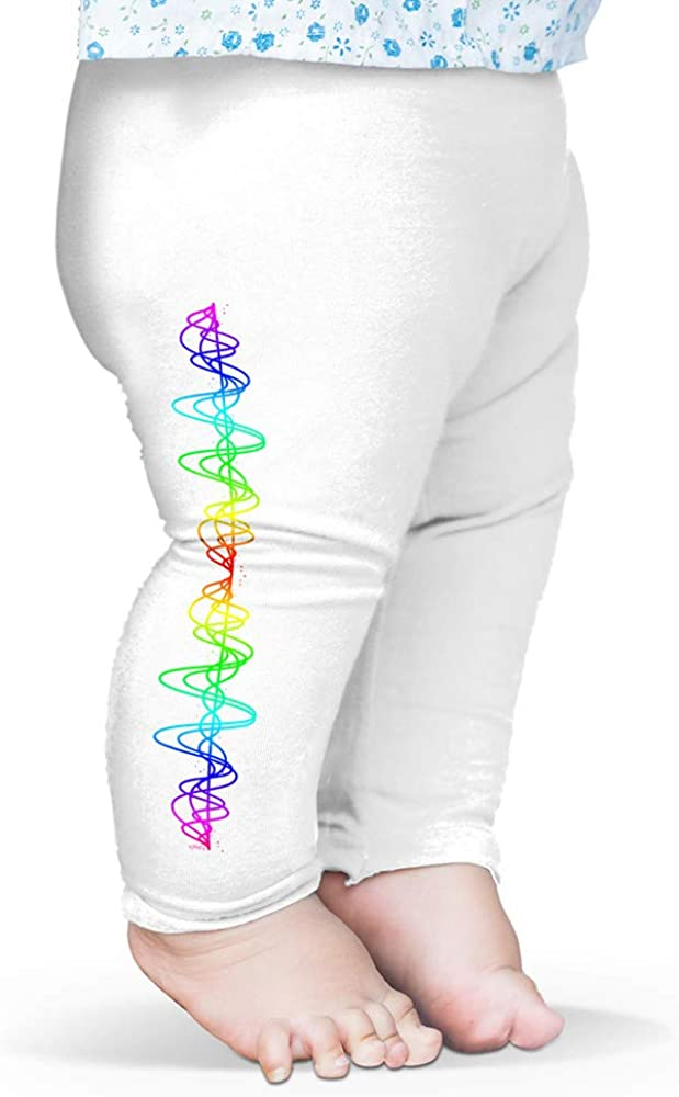 Twisted Envy Baby Leggings Rainbow Squiggle Baby and Toddler Girls Leggings