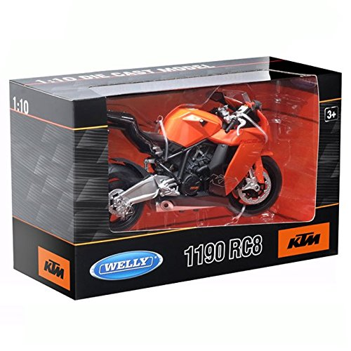 Welly 60806W 1:10 Scale KTM 1190 RC8 Diecast Model ()