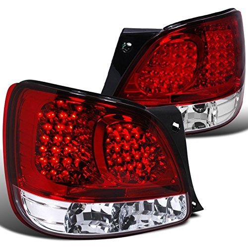 Spec-D Tuning LT-GS30098RLED-TM Lexus Gs300 Gs400 GS430 Red/Clear 2Dr Couple Led Tail Lights