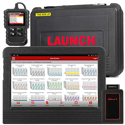 LAUNCH X431 V Pro Bidirectional Diagnostic Tool Key Program,Self-Adaption,ECU Coding, Full Systems Diagnostic Reset TPMS, EPB, DPF, BMS, IMMO Injector ABS,Oil Lamp - Free Update,Cr3001 as Gift (Best Email Provider 2019)