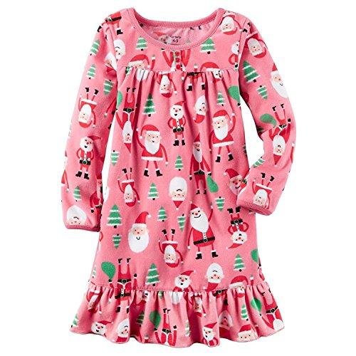 Carter Long-sleeve Microfleece Christmas Nightgown (2-3)