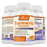 Natrogix Turmeric Curcumin with BioPerine. Highest Potency per Capsule. Premium Pain Relief & Joint Support with 95% Standardized Curcuminoids. Non-GMO, Gluten Free & Vegan friendly.