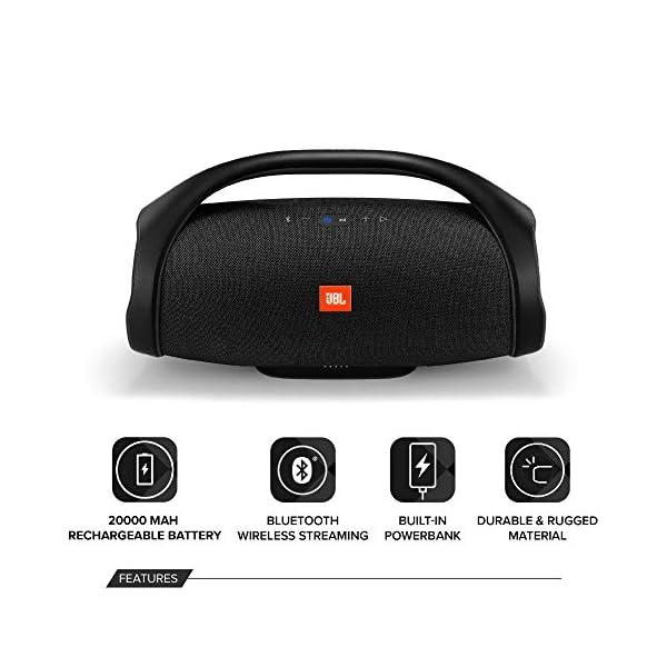 JBL Boombox Enceinte Portable - Son Ultra Puissant - Modes de Son Intérieur & Extérieur - Autonomie 24 hrs - Étanche pour Piscine & Plage, Bluetooth, Noir 3