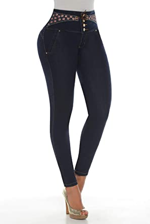 f2821770e2 Image Unavailable. Image not available for. Color  Kiwi Jeans Pantalones  Colombianos Levanta Cola ...