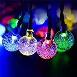 Hot Sale!DEESEE(TM)Outdoor String Lights Patio Party Yard Garden Wedding 20 Solar Powered LED Bulbs (C)