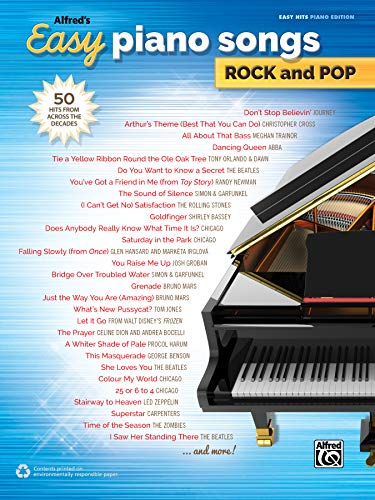Alfred's Easy Piano Songs -- Rock & Pop: 50 Hits from Across the Decades (Piano Pop Song)
