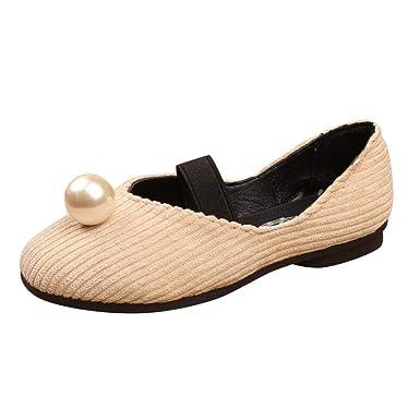 Zapatos de bebé, ASHOP Niña Casuales Zapatillas del Otoño Invierno Luz Baile Perla Princesa Superficial Onda Rayada Deporte Antideslizante del Zapatos ...