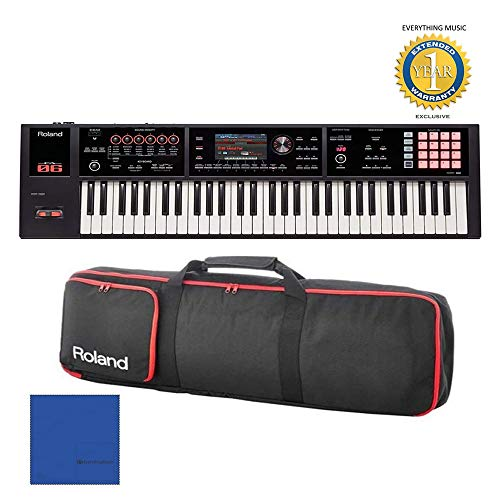 Roland FA-06 61-key Music Workstation and Gigbag RAM-4879 Bundle with Microfiber and 1 Year Everything Music Extended Warranty