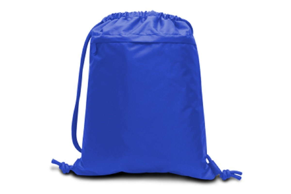 PERFORMANCE DRAWSTRING BACKPACK, Royal, Case of 48 by DollarItemDirect