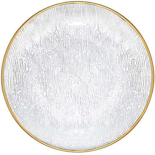 Almagic 12″ Salad Plate- Home and Kitchen Use Durable Dinner Plate Glass Dinnerware Set of 4