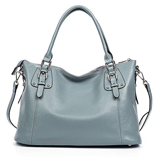 Blue Leather Handbags - 8