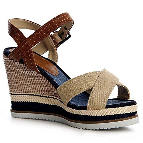 Topschuhe24 Sandales Beige Sandalettes Femmes Sandalettes Sandales Femmes Topschuhe24 Beige wPvAqv