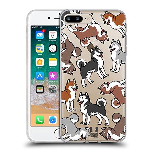 Alaskan Malamute Dog Breed - Head Case Designs Alaskan Malamute Dog Breed Patterns 6 Soft Gel Case for iPhone 7 Plus/iPhone 8 Plus