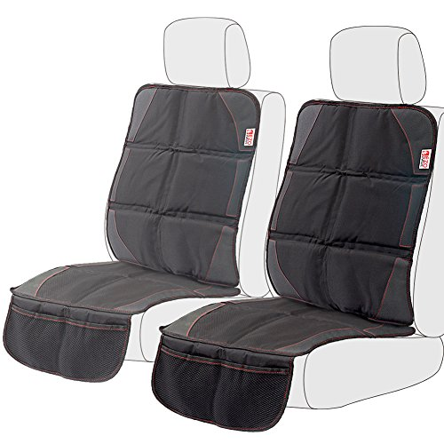 Infant Rear Facing Car Seat Cover - [2-Pack] EZOWare Car Seat/Booster Seat Protector Cover with Storage Organizer Pockets for Child, Infant and Baby, Fits Most Automobile, Sedan, Minivan, SUV, Truck, or Van