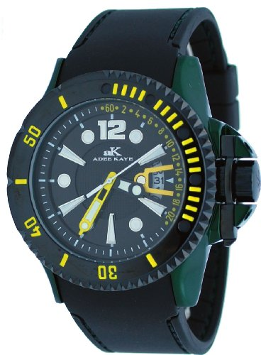 Adee Kaye #AK7779-M Men's Green Aluminum Black Dial Casual Sports Watch