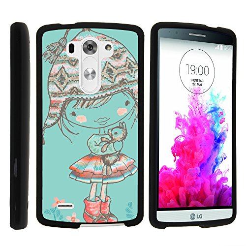 MINITURTLE Case Compatible w/LG G3 Case, Slim Fit Snap On Cover w/Unique, Customized Design for LG G3 (D850, D851, D855, VS985, LS990, US990) Winter Beanie Girl (Lg G3 Smartphone Unlocked)