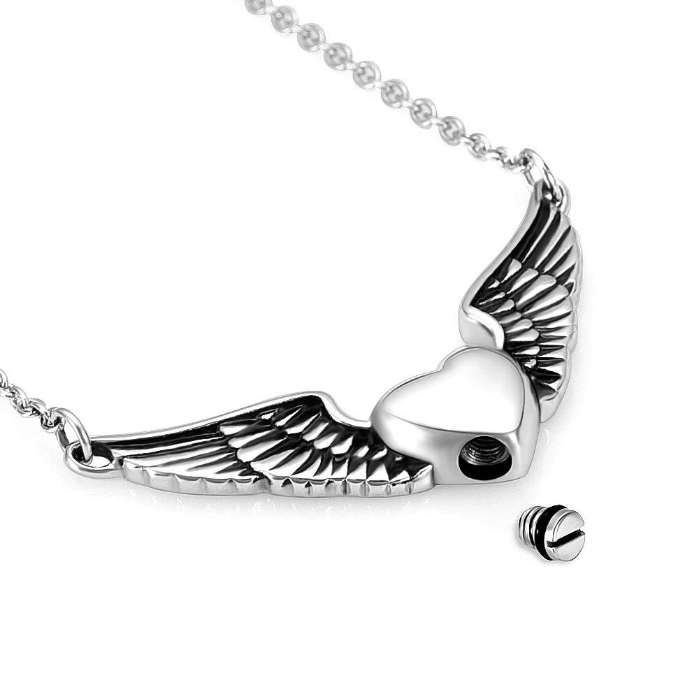 memorial jewelry Foreverlove Angel Wings Pendant Memorial Ashes Urn Pendant Cremation Ashes Urn Jewelry by memorial jewelry (Image #5)
