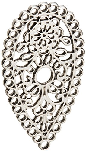 Sizzix Findings, 1-Piece Tear Drop Paisley, Silver