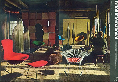 (Harry Bertoia designs for Knoll International ad 1970 NY)