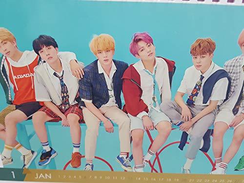 Korea Drama BTS 2019 Calendar Desk Included Sticker, Postcard, BTS A4 Size Folder