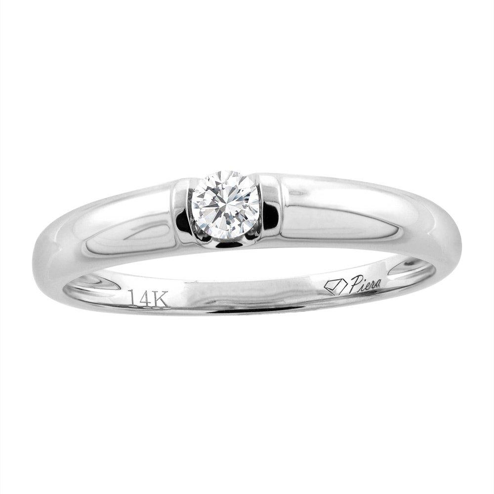 14K White Gold Ladies' Diamond Wedding Band 3 mm 0.11 cttw, size 9