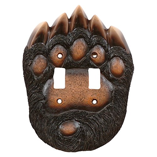 Bear Paw Double Switch Plate