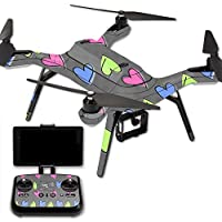 MightySkins Protective Vinyl Skin Decal for 3DR Solo Drone Quadcopter wrap cover sticker skins Girly