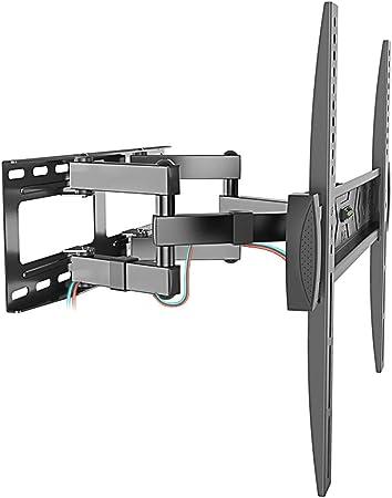 Soporte de montaje en pared para TV inclinable para la mayoría de los televisores con pantalla