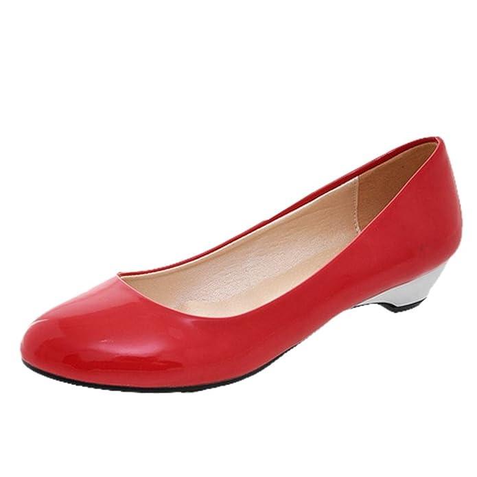 Show Shine Women's Charm Kitten Heel Patent Leather Court Shoes:  Amazon.co.uk: Shoes & Bags