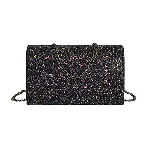- Clearance!Women Bags❤️COPPEN Fashion Personlized Women Girl Leather Crossbody Shoulder Bag with Bling Sequins (Black)