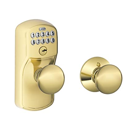 Merveilleux Schlage FE575 PLY 505 PLY Plymouth Keypad Entry With Auto Lock And Plymouth  Knobs,