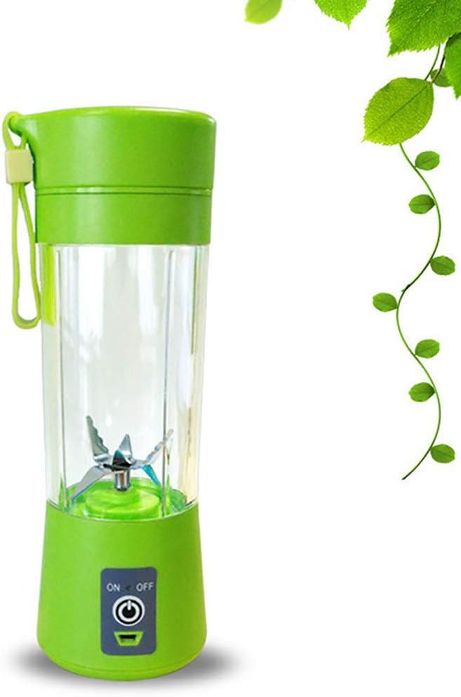 XW Blender portátil Personal, 400Ml portátil USB portátil Jugo Exprimidor Batidora Multifuncional Fruta Mezclador Seis Hoja cóctel de Mezcla Máquina de los Alimentos para niños,Verde: Amazon.es: Deportes y aire libre