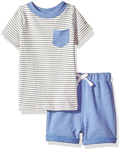 Isaac Mizrahi Baby Boys 2 Piece Sleeve Round Neck Tee and Shorts
