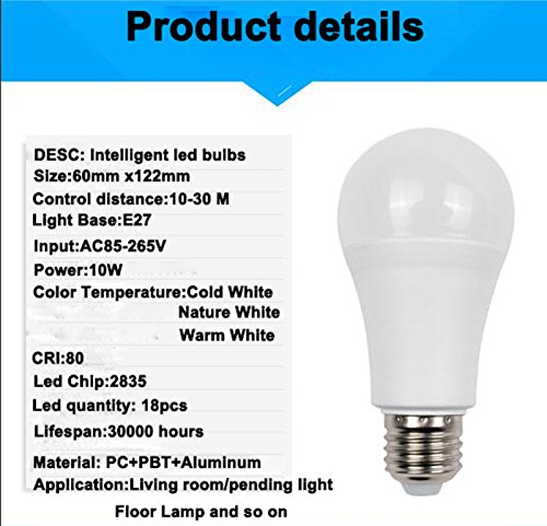 Amazon.com: Led Dimming bulbs 10W Dimmable E27 Led Bulb Smart IC Lampada Ampoule Bombilla Lamp SMD2835 Light, 96pcs/Lot (Dimmable, 96pcs bulb): Kitchen & ...