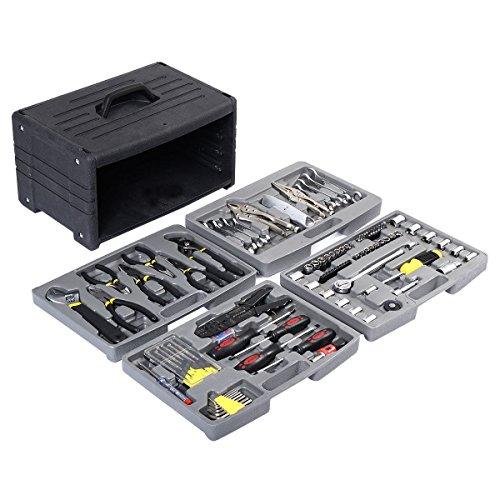 99 PCS Garage Tool Mechanic's Tool Kit Set Shop Vehicle Repair four floors (Electric Auto Mechanic Tools compare prices)