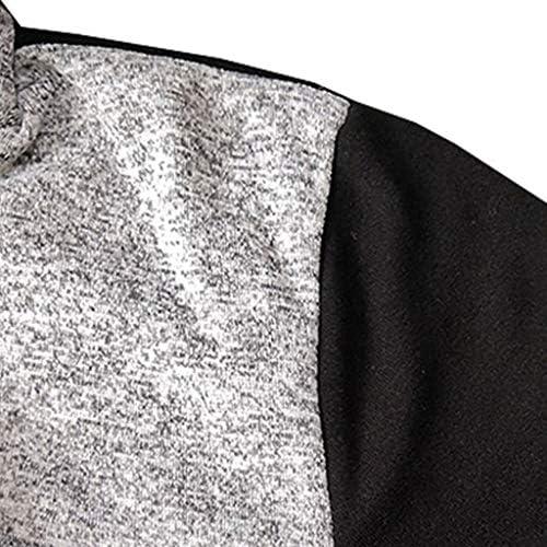 パーカー メンズ 長袖 フルジップ ジャケット スリムフィット スウェットシャツ 春秋冬 フード付き パッチワーク カーディガン おしゃれ スウェットパーカー おおきいサイズ ポケット コート人気 カジュアル スウェット フーディ