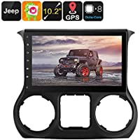 One DIN Android Media Player For Jeep Wrangler 10.2 Inch Google Play CAN BUS Android 6 Octa Core 2GB RAM GPS Navigation