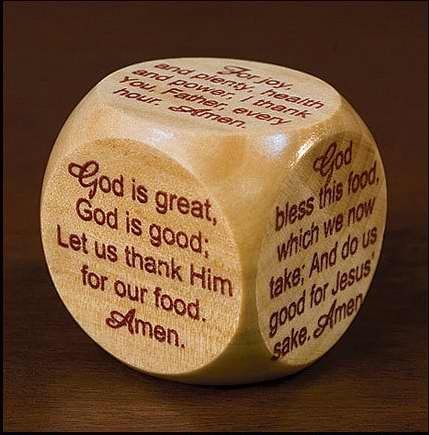 Wooden Mealtime Prayer Cube for Children and Families (Explaining The Trinity To A 5 Year Old)