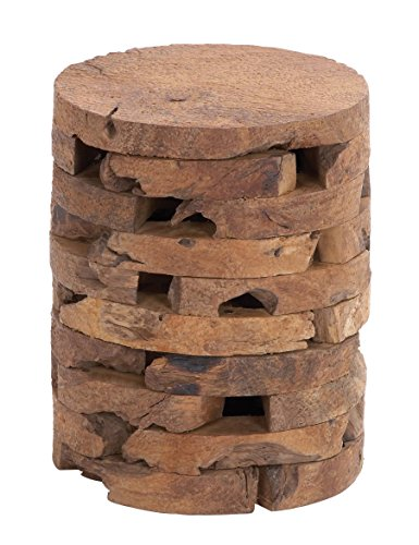Deco 79 Wood Teak Stool, 14 by 18-Inch by Deco 79