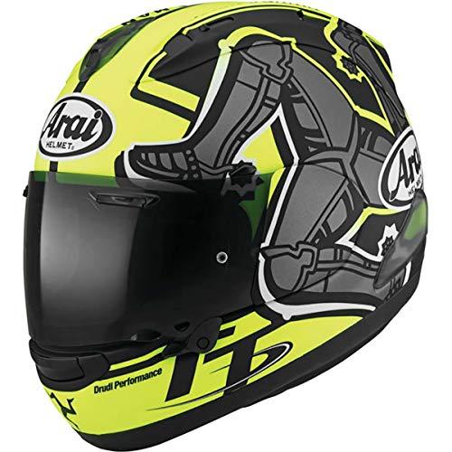 (Arai Corsair-X Isle Of Man 2019 Adult Street Motorcycle Helmet - Yellow/Medium)
