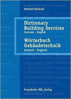 Book Dictionary Building Services: English - German Vol. 2