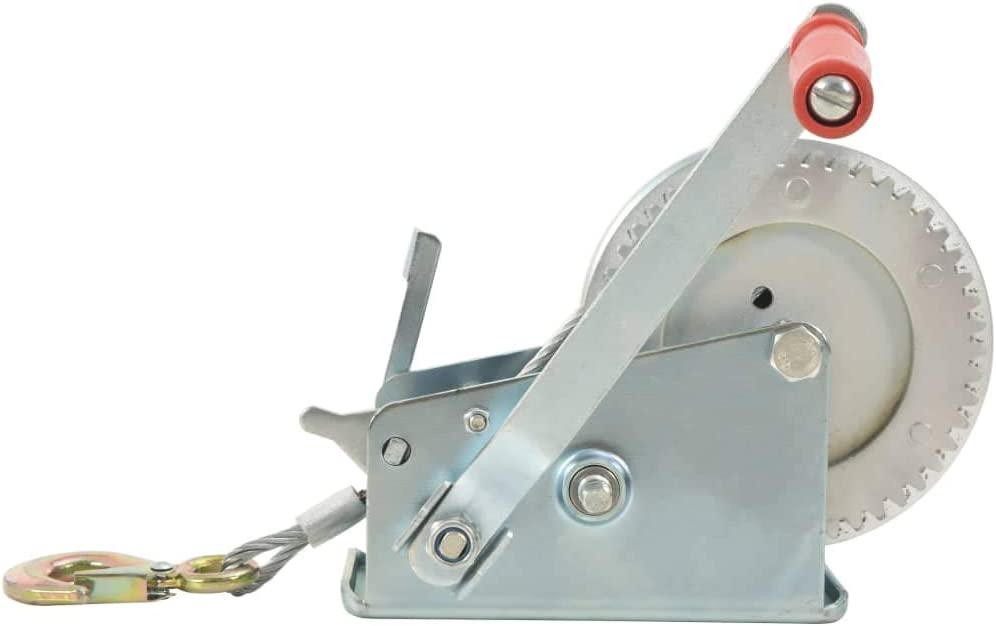 mewmewcat Hand Winch with Strap for Pulling Large or Heavy Items 1360 kg 3000 Ibs 40 x 30 x 18,5 cm