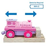 Bigjigs Rail Pink Battery Operated Train Engine