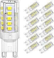 DiCUNO G9 Ceramic Base LED Light Bulbs, 6W 60W Halogen Equivalent 550LM (4W 40W Halogen Equivalent 400LM), Warm White 3000K/Daylight White 6000K, 6/12 Pack