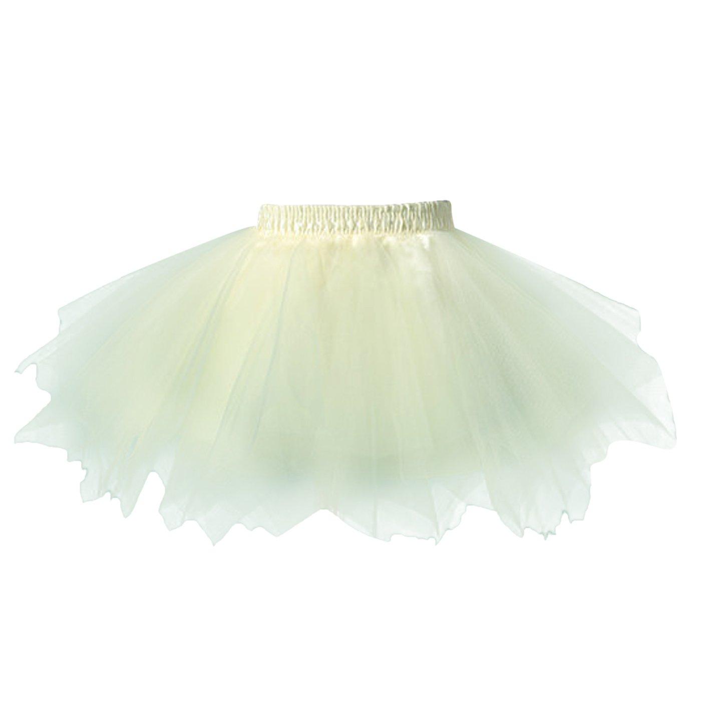 3107d8fe7 FEOYA Niñas Falda de Tul Tutú Clásica de Ballet para Disfraz Halloween  Fiesta Color Amarillo PP23FS2841