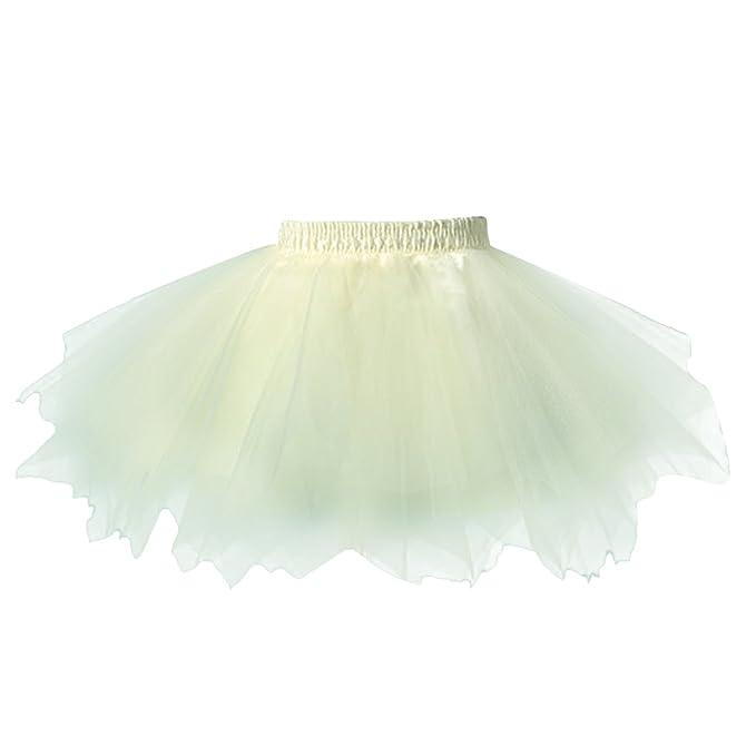 FEOYA Niñas Falda de Tul Tutú Clásica de Ballet para Disfraz Halloween Fiesta, Color Amarillo
